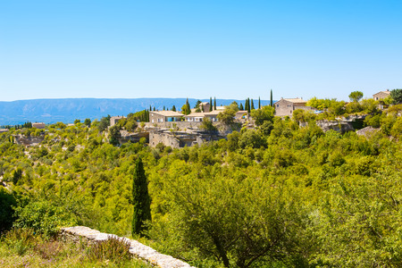 View on provencal village roof and landscape, Provence, France. On sunny summer day. Stock Photo