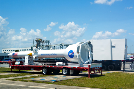 cape canaveral: KENNEDY SPACE CENTER, FLORIDA, USA - APRIL 21, 2016: NASA building.