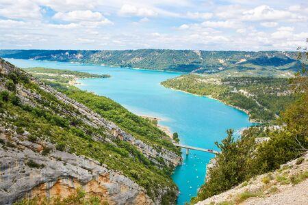 Gorges du Verdon,Provence in France, Europe. Beautiful view on lac de sainte-croix