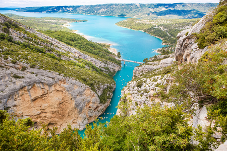 Gorges du Verdon,Provence in France, Europe. Beautiful view on l 스톡 콘텐츠