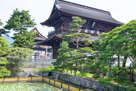 tera: NAGANO, JAPAN - MAY 23, 2015: Important Zenkoji Temple, Nagano, Editorial