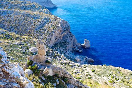 キャップ de フォーメントー - マヨルカ、スペインの野生の海岸のパノラマ ビュー