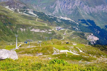 Mountain and forest landscape in Tirol. Austria, region of Hintertux Stok Fotoğraf - 87018577