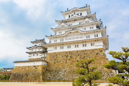 Main tower of the Himeji Castle in Japan Stock Photo
