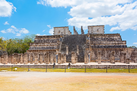 사원의 Kukulkan Chichen Itza, 유카탄, 멕시코에서 스톡 콘텐츠