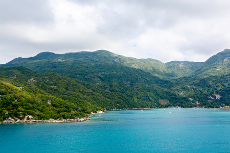 ビーチとトロピカルリゾート、ラバディー島、ハイチ。 写真素材
