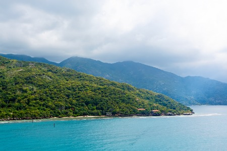 Beach and tropical resort, Labadee island, Haiti. Reklamní fotografie - 94456225