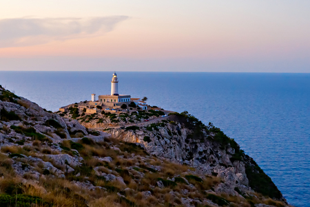 Lighthouse at Cape Formentor in the Coast of North Mallorca, Spain ( Balearic Islands ). Imagens