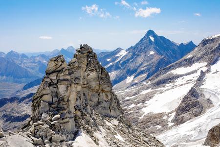 Mountain and glacier landscape in Tirol. Austria, region of Hintertux.