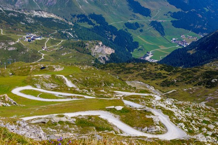 Mountain and glacier landscape in Tirol. Austria, region of Hintertux. Stok Fotoğraf - 101655351