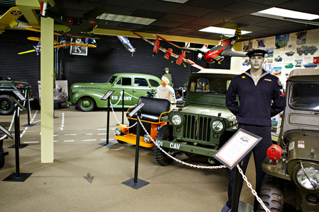 MIAMI, FLORIDA, USA - APRIL 11 2016: Miami Auto Museum exhibits a collection of vintage and cinema automobiles, bicycles and motorcycles on April 11, 2016 in Miami, Florida, USA. Editorial