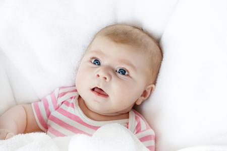 Portrait of cute adorable newborn baby child