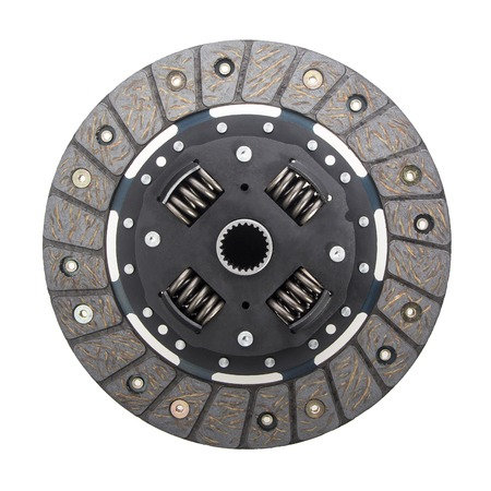 damper: Clutch disc for a passenger car isolated on the white background. Stock Photo