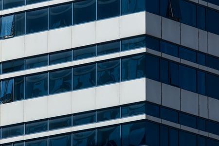 miror: Corner of a modern urban building.