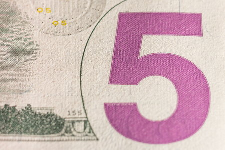 Super macro. Image number five on the US dollar bill.