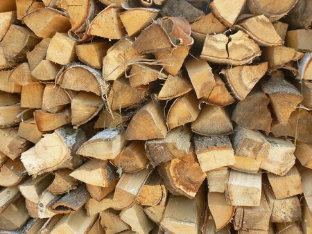 natural energy: Stack of firewood. Natural energy