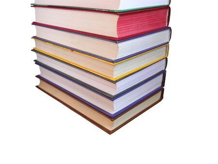Pile of books isolated on a white background photo