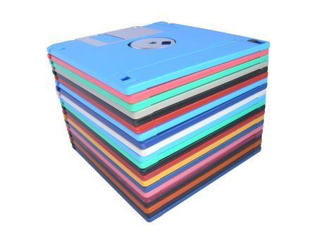 Pile floppy-disk photo