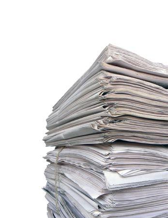 Newspaper stack Stock Photo - 3781020