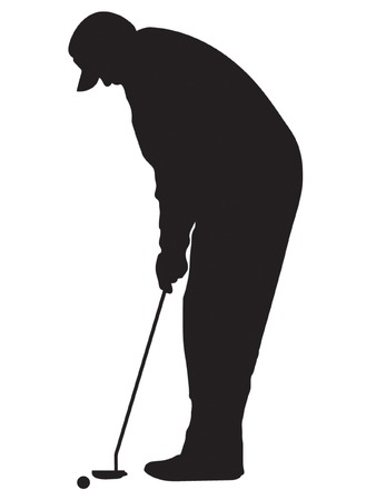 put: Vector Golfer Silhouette
