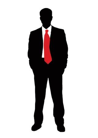 Zakenman en rode stropdas
