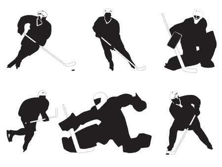 Group of hockey players vector illustration Vector