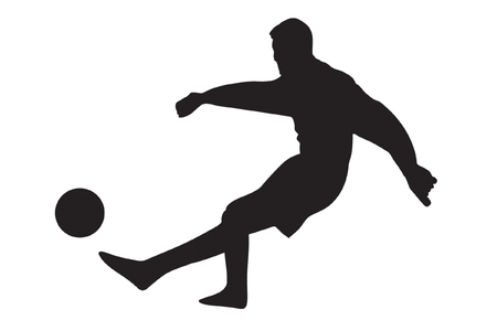 Soccer player silhouettes   Vector