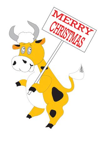 cow bells: Orange bull