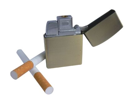 Two cigarettes and lighter  photo