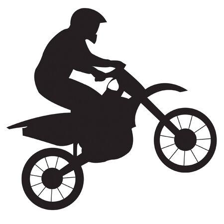 Racer op motorfiets