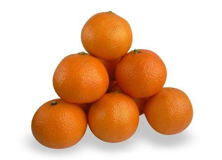 Tangerines isolated on white background Stock Photo - 4087290
