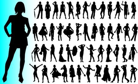 sexes: Fashion women vector Illustration