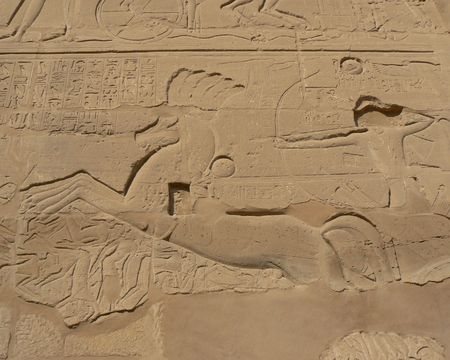 scribes: Ancient egyptian script in Luxor