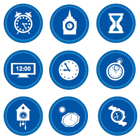 Set of buttons for web design. Time concept Vector