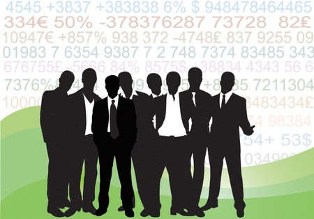expressing positivity: Collection of business people in silhouette