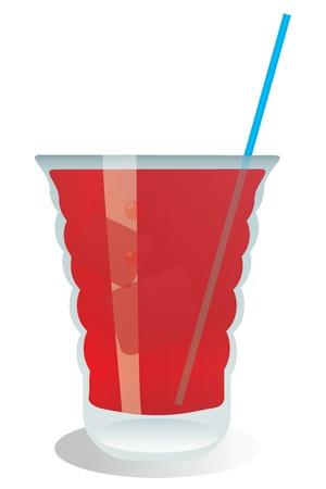indulgência: Cocktail, vector illustration for you design