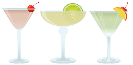 Cocktails set, vector illustration for you design Vector