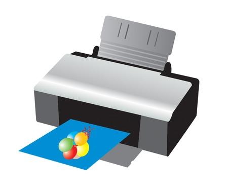 Printer Stock Vector - 4897657