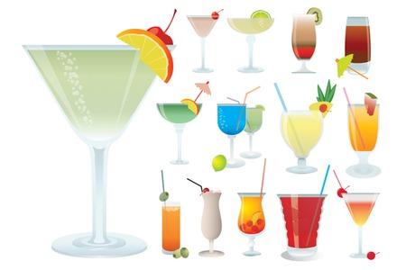 Cocktail, vector illustration for you design Vector