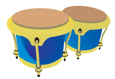 bongo drum: Drums. Vector illustration for you design Illustration