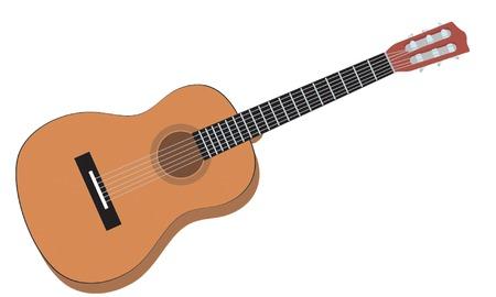 Guitar. Vector illustration for you design Vector