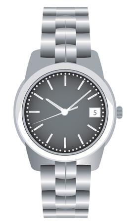 stalen armband horloge Vector Illustratie