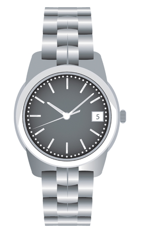 timed: steel bracelet watch