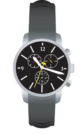 steel bracelet watch Vector