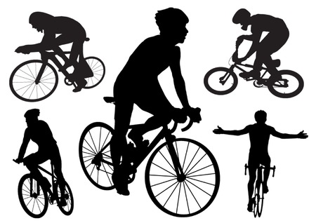 conscious: Cyclists Illustration
