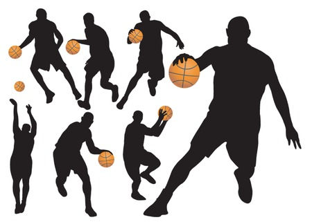 Basketball Players Stock Vector - 5553696