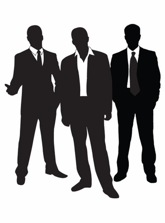 stand out: Group businessmans