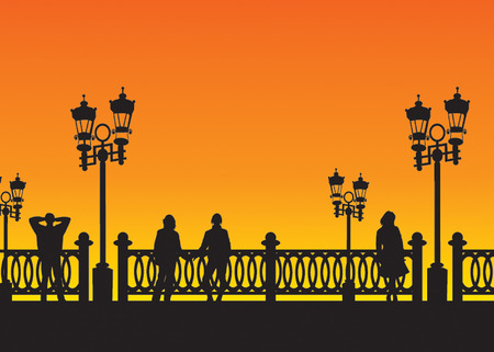 Town bridge. Vector illustration for you design Stock Vector - 5606447