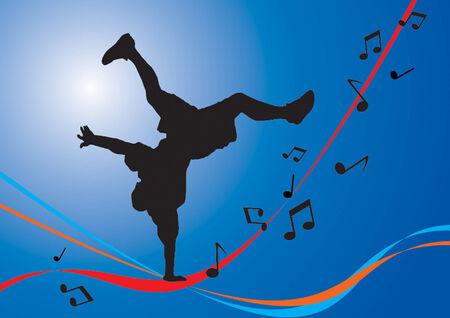 Breakdancing Flow. Vector illustration for you design Vector