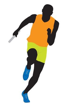 running track: Runner. Vector illustratie voor u ontwerp Stock Illustratie